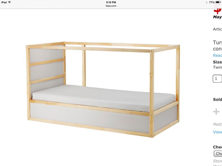 Ikea kura reversible loft bed central nanaimo nanaimo for Reverse loft bed