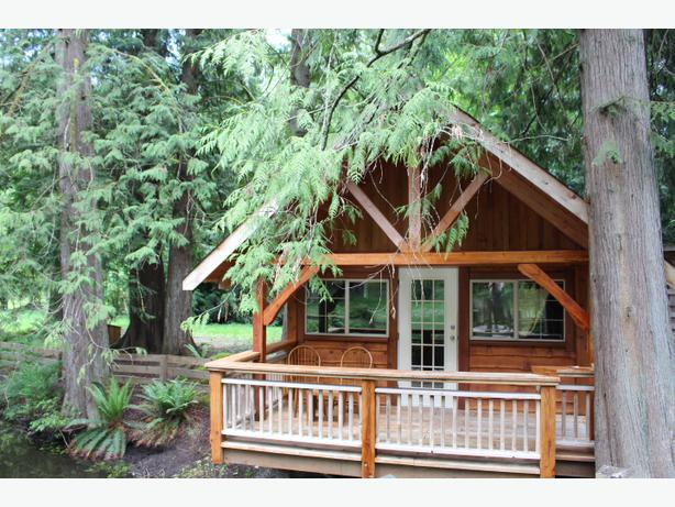 Gorgeous self contained cabin on a pond outside victoria for Self contained cabin