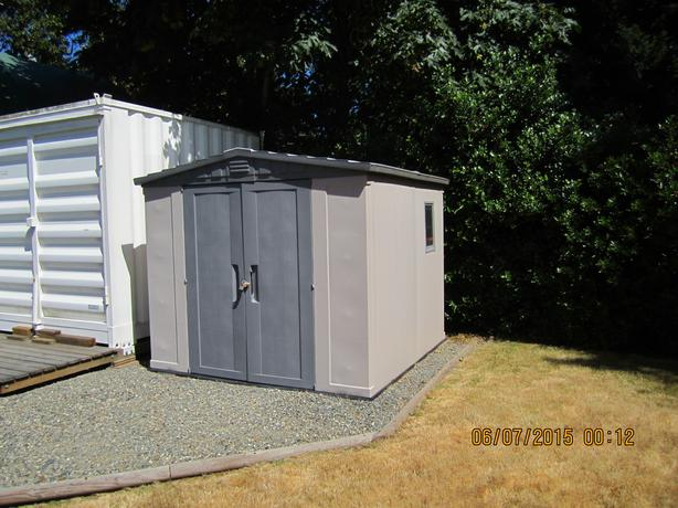Garden shed west shore langford colwood metchosin for Garden shed victoria