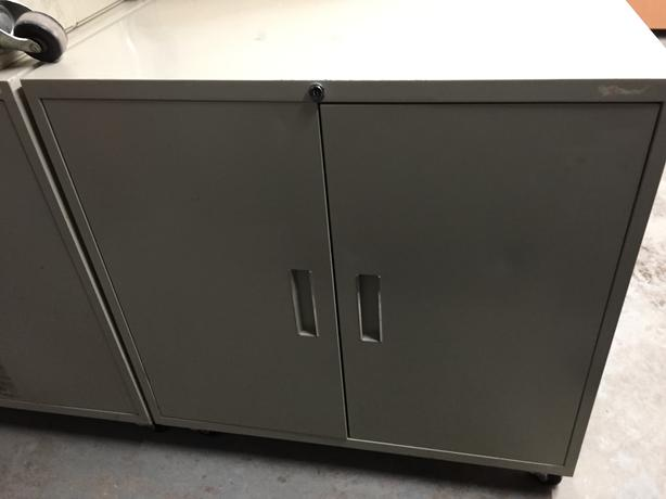 "Storage Cabinets (Small) with 4 Swivel Casters. 24"" high, 30"" wide"