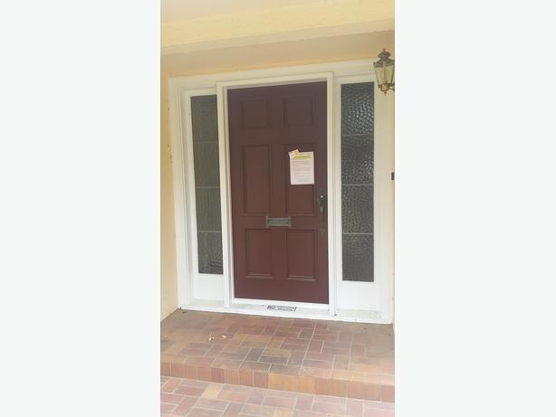 High End Exterior Door With Sidelights Frame Complete W
