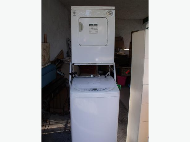 gently used apartment washer and dryer with stacking frame dryer