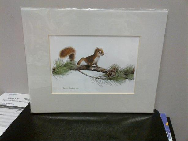 Canadiana Squirrel Print