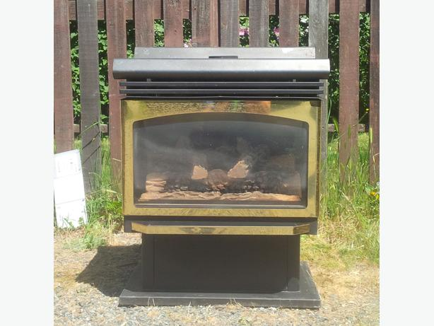 Natural Gas Free Standing Fireplace Saanich Victoria