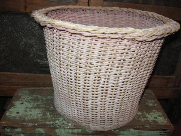 Vintage woven wicker basket