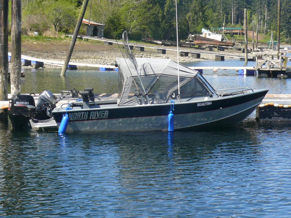 2006 north river seahawk aluminum fishing boat outside for Seahawk fishing boat