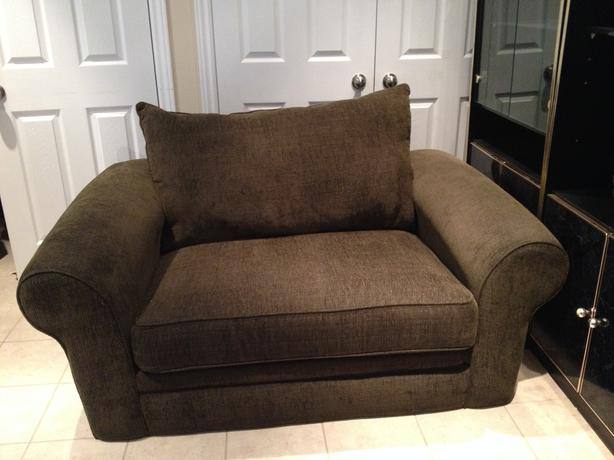 Large And Comfy Living Room Chair Or Matching Chair And Love Seat