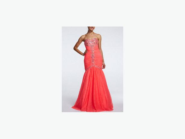 Mermaid Wedding Dresses Ottawa : Price reduced over david s bridal pink prom mermaid