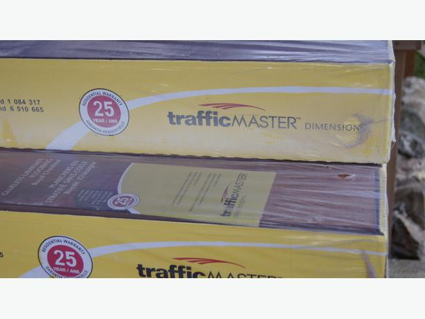 Trafficmaster Glueless Laminate Flooring fairview sunset american cherry 7 mm thick x 7 12 in wide Traffic Master Glueless Laminate Flooring