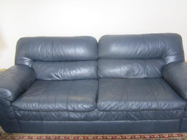 Lazy boy blue leather sofa west carleton ottawa Leather lazy boy sofa