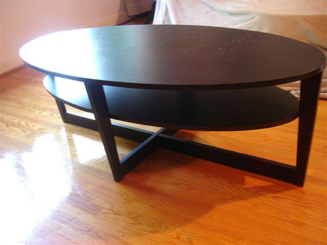 Couchtisch Oval Ikea : sold ikea vejmon oval black coffee table 55 x 26 x 18 5 ~ Watch28wear.com Haus und Dekorationen