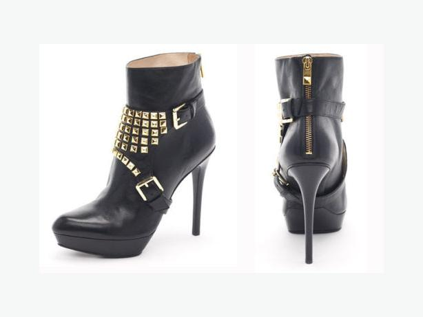 Michael Kors Rock n' Roll Bootie - Size 7.5 M - Black Leather