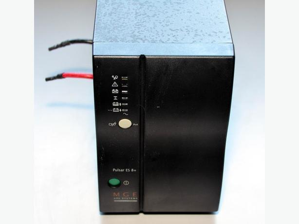 MGE Pulsar 8+ UPS set up for use with external deep cycle batteries