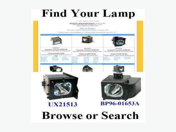Saskatoon TV Replacement Lamps and Bulbs for Sony, RCA, Hitachi, Samsung