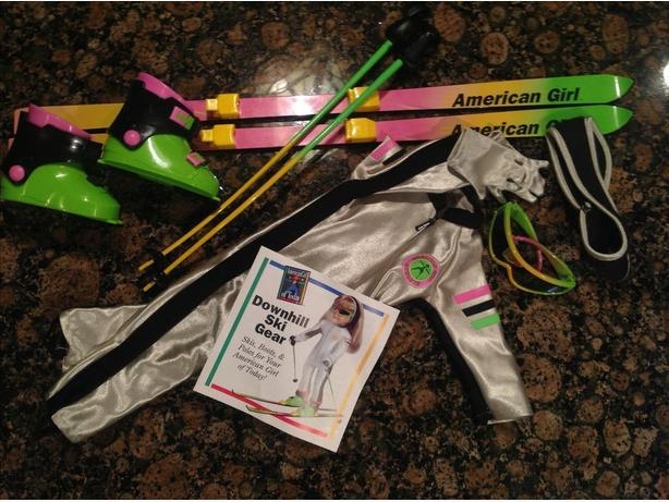 "American Girl Racer Ski outfit & Gear for 18"" doll"