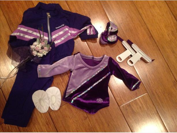 American Girl Gymnastics outfit & accessories