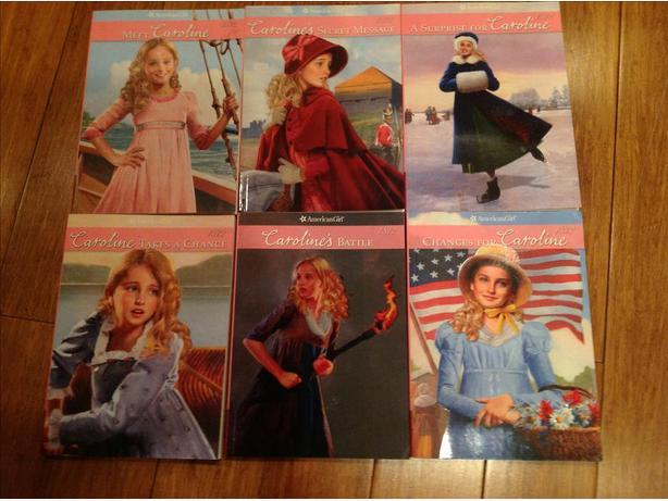 American girl Caroline paperback books set of 6
