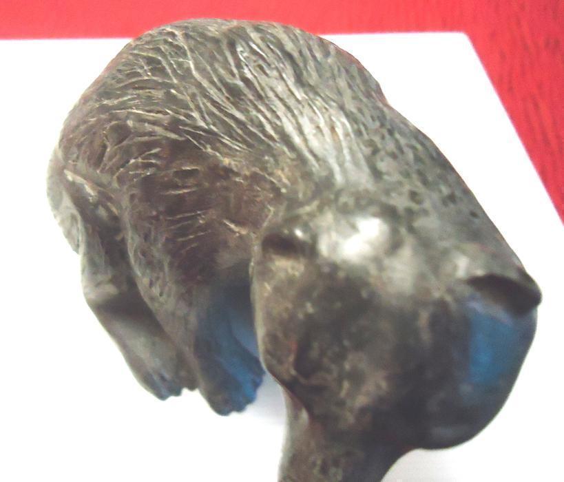 Beautiful inuit handcarved soapstone bear sculpture