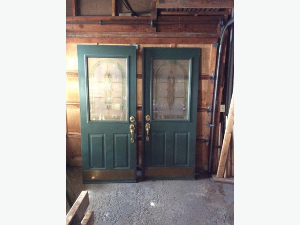 Double front doors metal doors with decorative glass - Decorative glass exterior door inserts ...