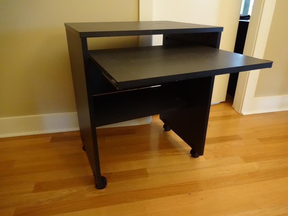 Small Desk Black Linon Antique Black Laptop Desk