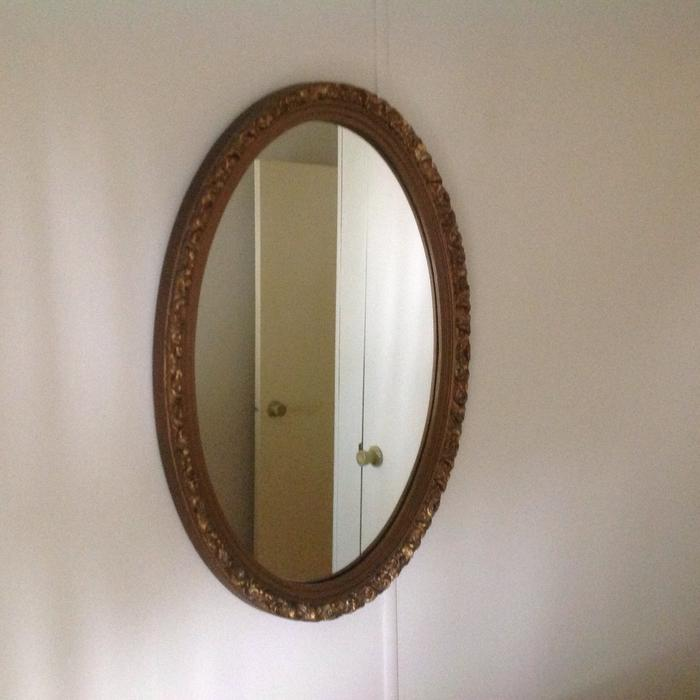 Decorative oval mirror parksville parksville qualicum for Oval mirror canada