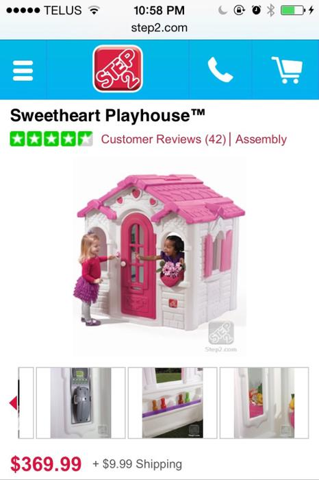 934 Sweetheart Playhouse Step