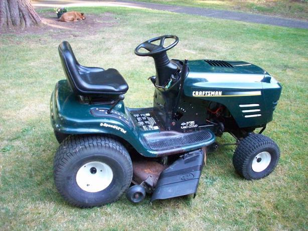 Craftsman Grass Bagger : Hp quot deck craftsman mower with grass catcher sooke