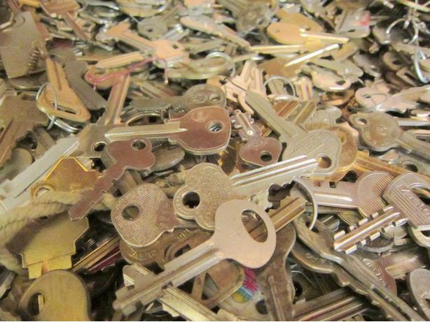 Keys, Keys and more Keys! Great for art and craft projects!