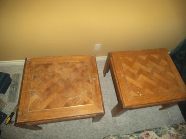 Wooden End Tables Coffee Table Saanich Victoria