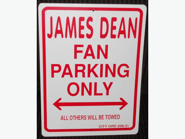 James Dean driveway/gate sign