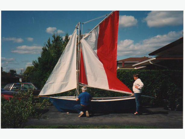 14' Mini Skipjack with sails and trailer