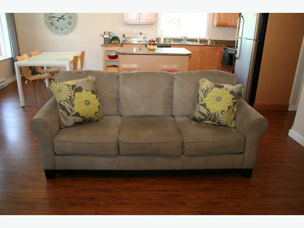 Corduroy Fabric Sofa From Ashley Furniture Outside Nanaimo Parksville Qualicum Beach