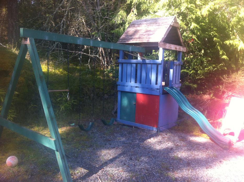 Swing Set Fort Slide And Cargo Net Assembly West Shore