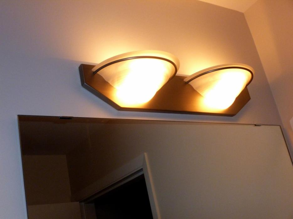 Bathroom Vanity Light Fixture - with Beautiful Glass Shades Esquimalt & View Royal, Victoria ...