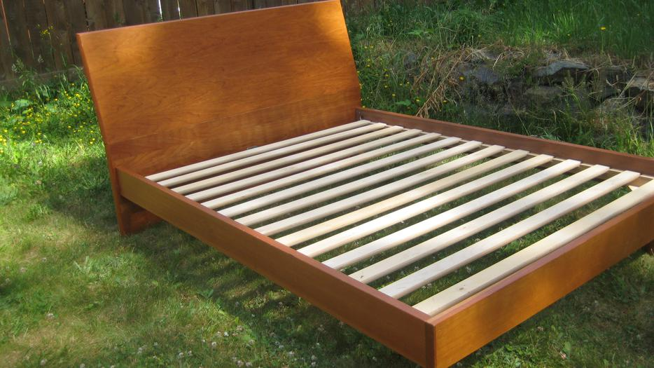 Ultra modern wooden sleigh bed outside cowichan valley cowichan - Ultra modern beds for boys ...