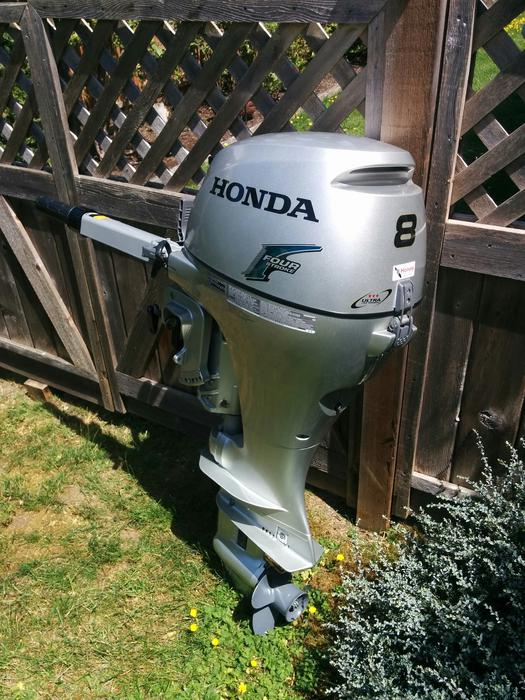 2012 honda 8hp outboard motor central nanaimo nanaimo for Used honda boat motors