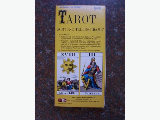 TAROT CARDS FORTUNE TELLING GAME / DELUXE ED. / 1970 SWITZERLAND