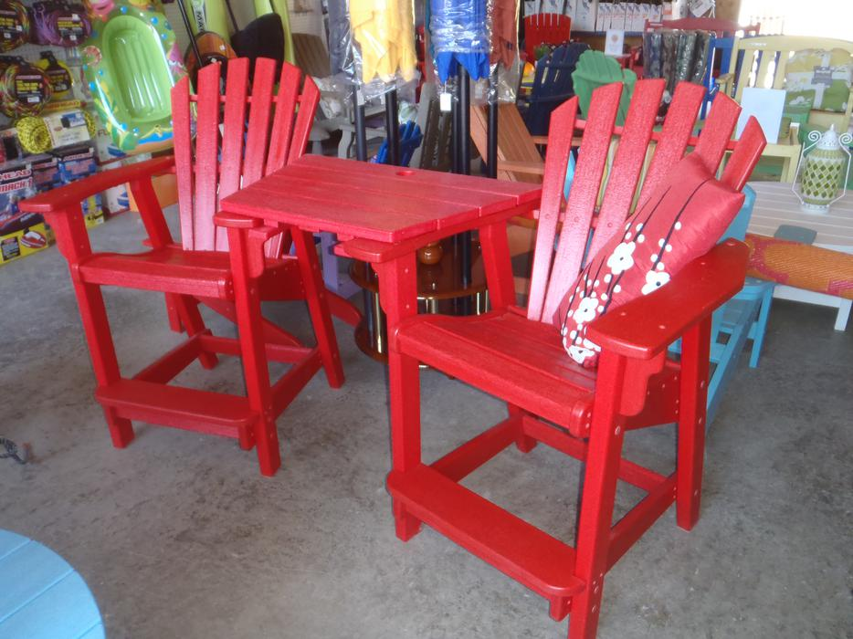 Counter Height Adirondack Chairs : ADIRONDACK COUNTER HEIGHT CHAIRS & TABLE COMBO, POLY OUTDOOR FURNITURE ...