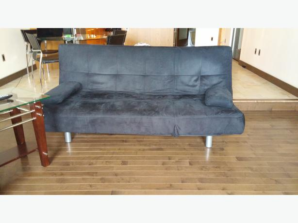 Contemporary Sleek And Modern Suede Futon Central Regina Regina