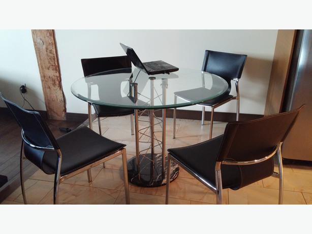 Contemporary Sleek And Modern Dining Set With Marble Base Central Regina Regina