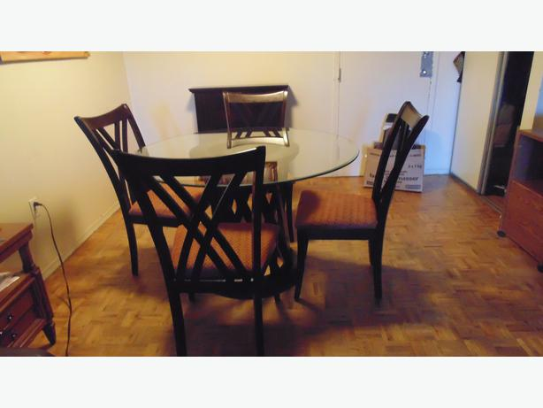 Glass dining table with chairs downtown toronto