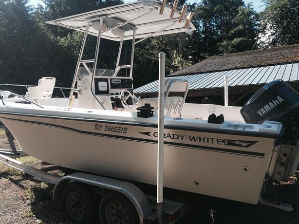 Grady white fishing boat outside comox valley comox for Grady white fishing boats