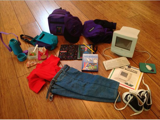 American Girl School Gear& Mini Macintosh *