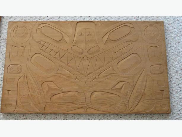 Haida Cedar Panels by Master Carver Victor Adams