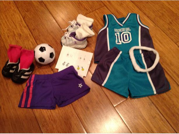 "Sports outfits & misc for your 18"" American Girl Doll"