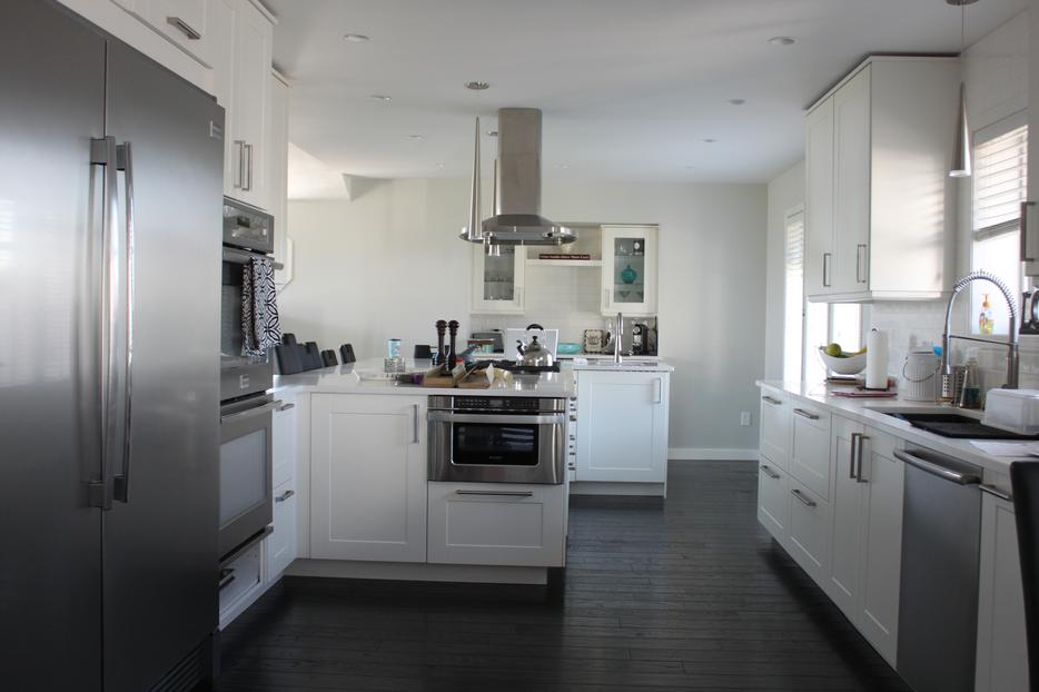 Designed and installed kitchens using ikea cabinets for Kitchen cabinets victoria