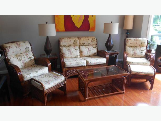 Deluxe Rattan Living Room Set Qualicum Nanaimo