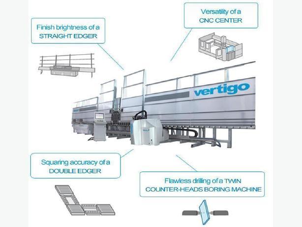 Glass CNC work center Denver Vertigo all in one machine