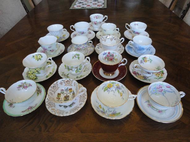 Seventh Lot of Vintage England Bone China Tea Cup & Saucer Sets