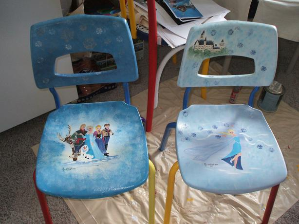 Frozen Hand Painted Chairs